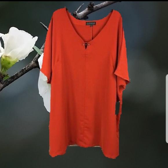 5bc24cd5312 Eloquii Dresses   Skirts - Women s Tunic Shirt Dress 18-20 Plus Size Orange